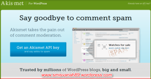 Cara mengaaktifan widget aksimet, anti sepam pada blok wordpress