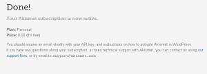 Cara mengaktifkan widget aksimet apda wordpress.com